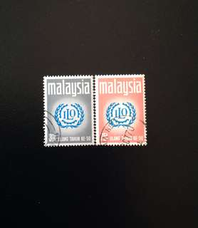 Malaya 1970 50th Anniversary of Interest Labour Organisation 2V Used Set (0419)