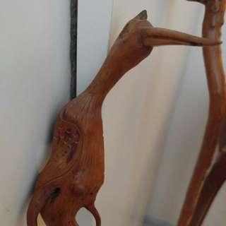 罕有木雀雕行山杖