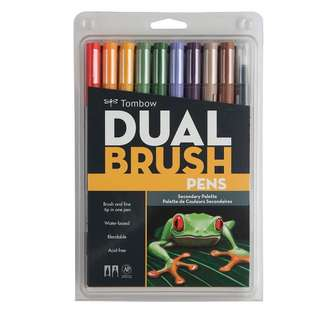 Tombow Dual Brush Pen (pack of 10 - secondary palette)