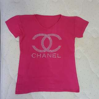 pink chanel blouse