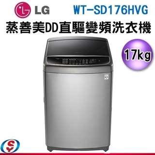 17公斤 LG樂金 6MOTION DD 蒸善美直立式變頻洗衣機 WT-SD176HVG