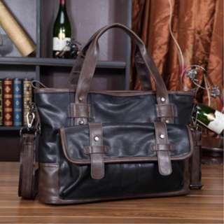 original Korean fashion mens shoulder travel bag PU leather #5001