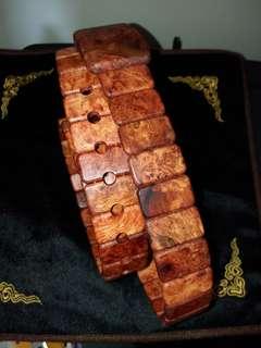 花梨木皮带  长度120cm小块30x18mm左右