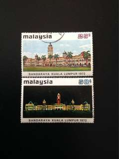 Malaya 1972 City Status 2V Used Set (0420)