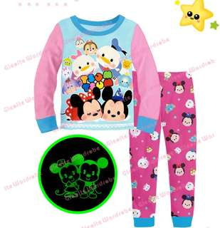 Tsum Tsum Pyjamas glowing the dark