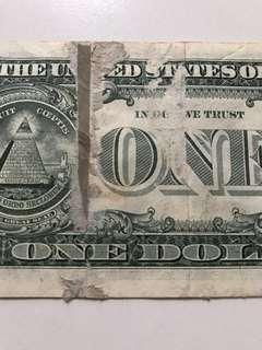 Defective USD1 bill