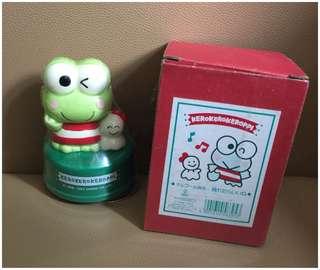** 分享 ** Sanrio Keroppi 青蛙仔 1993 年 人形陶瓷音樂座 (Made in Japan)