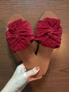 BN: Suede Bow Slip On