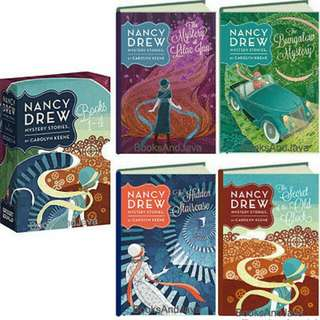 Nancy Drew Mystery Stories Books 1-4  ( Box Set) Item new in Publishers shrink wrap.