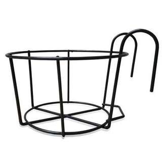 Flower Pot Rack Balcony Railing Hanging Plant Holder