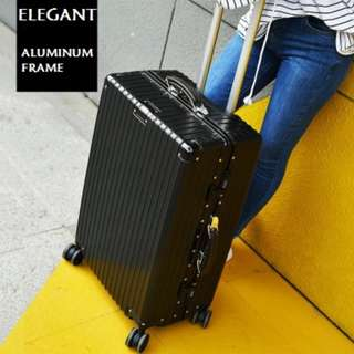 original Rimowa inspired similar-look antique design Aluminum frame universal wheel luggage24inches