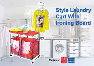 💥style laundry cart with ironing board💥