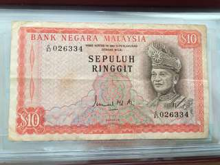 RM10 old note