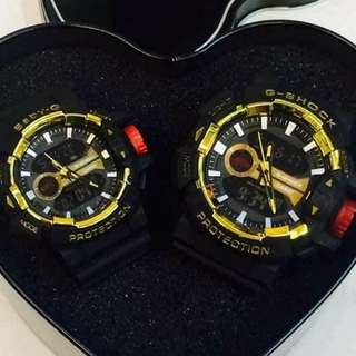 G-shock watch couple with can