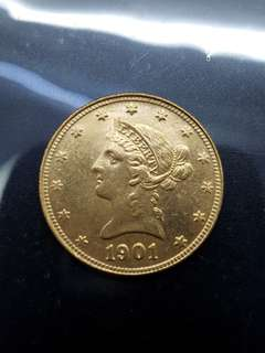 1901America gold coin