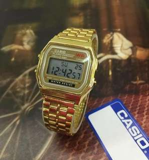 Casio watch with pouch