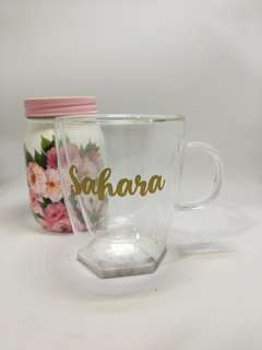 Pre-order mother day gift - double wall glass mug