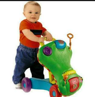 Playskool 2in1 Push Walker & Ride on with toys