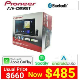 "PIONEER AVH-Z5050BT (Brand New) BLUETOOTH 7"" TOUCHSCREEN DVD Player +  Apple Carplay/Android Auto + SPOTIFY. Usual Price: $660 Special price: $ 485  (Brand new in box & sealed)  whatsapp 85992490 to pick up Today"
