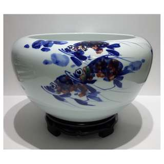 李雲峰 -「勝似神僊」青花釉里紅大瓷盤