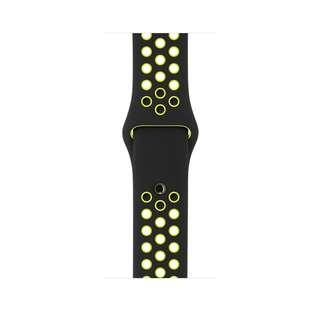 順豐包郵 Free SF Express Apple Replacement Watch Band Black Yellow only 38mm 黑黃色硅膠錶帶