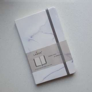 Leather Bullet Journal / Marble Pattern / Premium Dot Grid Notebook / Moleskine Sized
