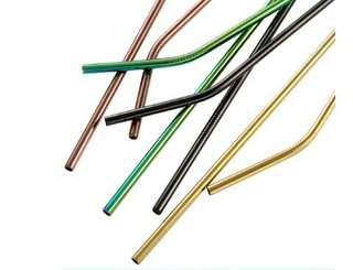 Colourful Metal Straw