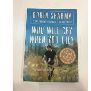 C225 BOOK -  WHO WILL CRY WHEN YOU DIE
