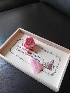 粉色雙層和風花(髮夾扣針倆用)