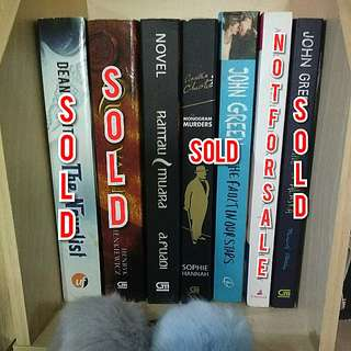 PRELOVED BEST SELLER BOOK INDO ORIGINAL MULAI 20RIBU! (BACA DESCRIPTION PLEASE!)