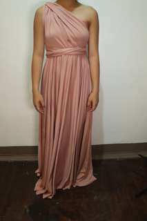 Light old rose infinity gown with tube