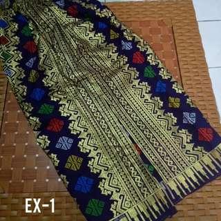 Rok Pendek motif prada warna ungu