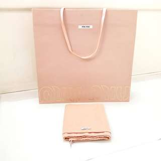 Miu Miu Authentic paperbag dustbag branded paper dust bag
