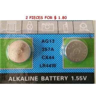 Alkaline Battery 1.55V - AG13 / 357A / CX 44 / LR44W (4 pieces)