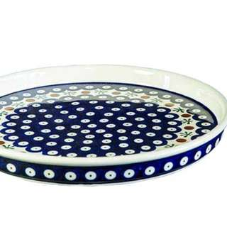 """Hand-decorated plater plate """"mosquito"""" pattern 41, diameter 26cm"""