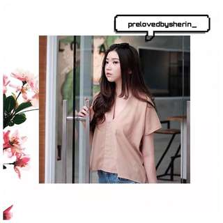 laxe nude blouse