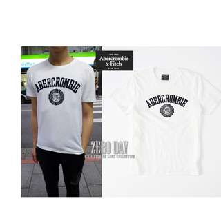 美國A&F專櫃帶回真品Abercrombie&Fitch Applique Logo Graphic Tee短T-白