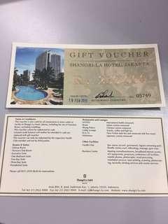 Gift voucher sangrill hotel jakarta