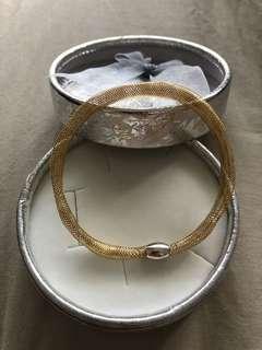 """Bracelet 18k gold. 17"""" real gold! 1.8g"""
