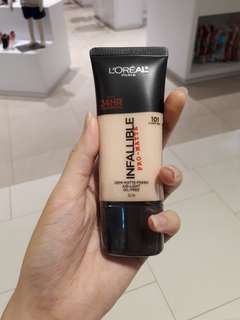 loreal foundation infallible pro matte shade 101