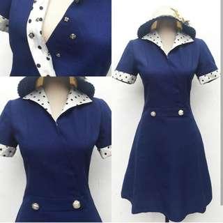 Two tone Blue Vintage Dress