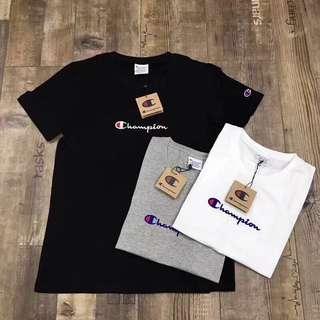 買2件減$50‼️男女裝champion 細logo tee