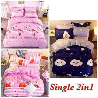 Fitted bed sheet Single 2in1/QK4in1
