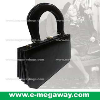 #Vintage #Classic #High-Fashion #High-Class #Black #Leather #Unique #Ladies #Women #Handcarry #Handbags #Clutch #Satchel #Bag #Rigid #Case #Pa-Pa @MegawayBags #Megaway #MegawayBags #CC-0181-81123-Black