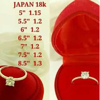 18K ENGAGEMENT JAPAN GOLD RINGS >>