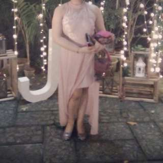 Sale!! LONG PINK GOWN, size XL