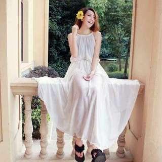 Long plain gown