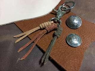 Handmade Leather Key chain  皮褲帶 褲鍊 鎖匙扣