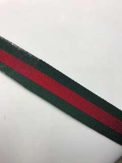 Gucci 纖維料 紅綠 腰帶 無尺寸限制 男女合用 全新購自意大利
