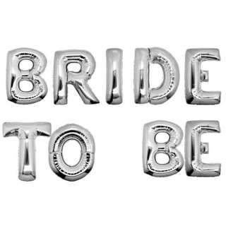 Bride to Be Balloon Set (Silver Colour)